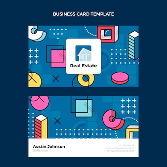 Flat design abstract geometric real estate business card