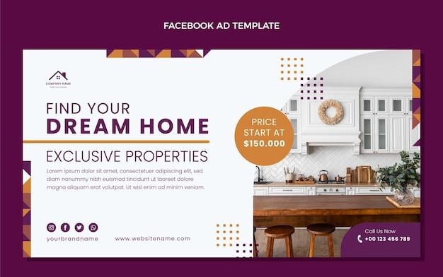 Плоский дизайн абстрактные геометрические недвижимость facebook