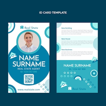 Flat design abstract geometric real estate id card