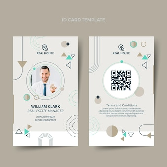 Flat design abstract real estate id card