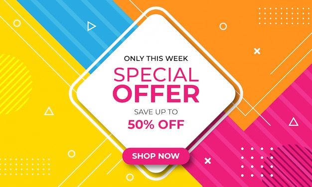 Flat design abstract sale