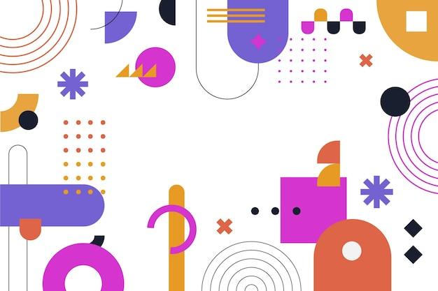 フラットなデザインの抽象的な形の背景