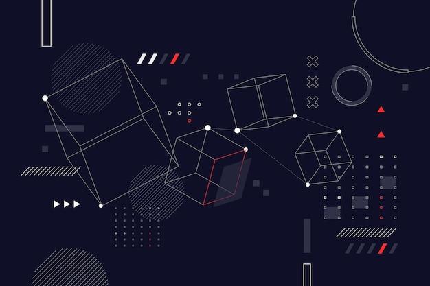 Плоский дизайн абстрактный каркасный фон