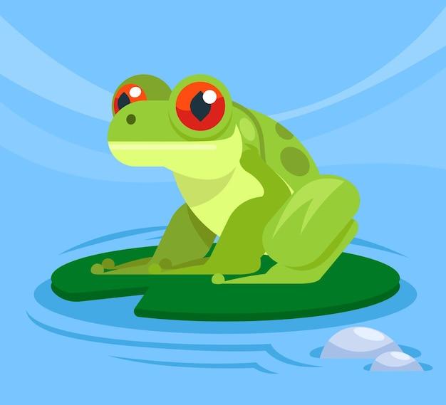 평면 디자인 사랑스러운 개구리 그림