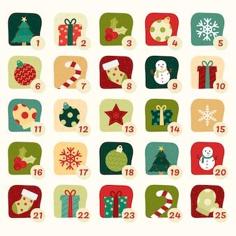 Flat design advent calendar concept