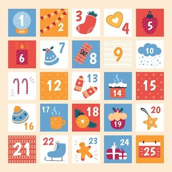 Flat design advent calendar