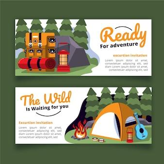 Flat design adventure banner