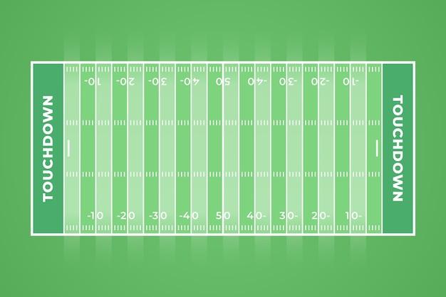 Плоский дизайн американского футбольного поля