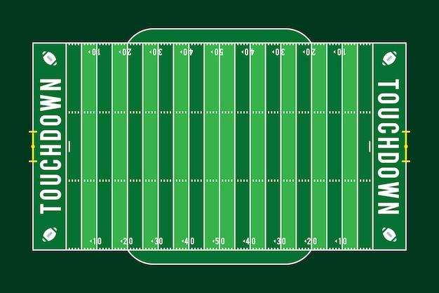 Flat design american footbal field