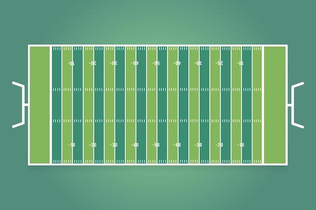 Campo di calcio americano design piatto