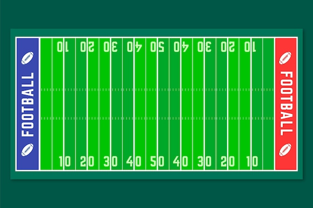 フラットデザインアメリカンフットボールフィールド