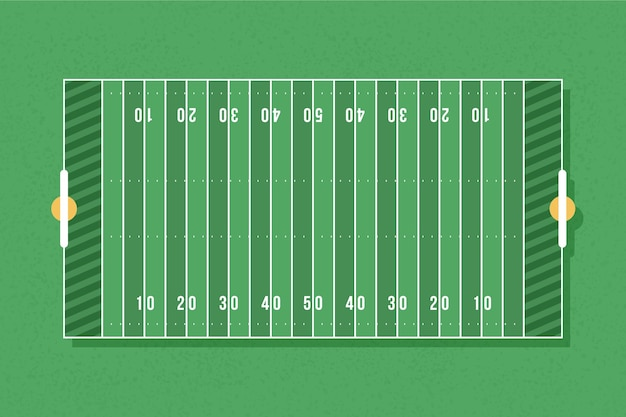 Flat design american footbal field