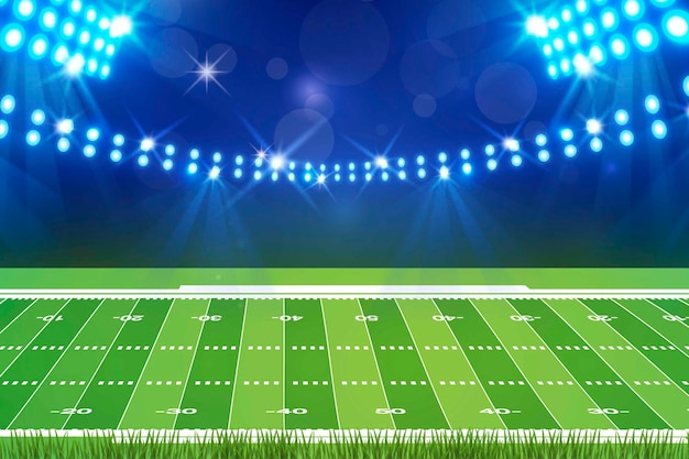 Flat design american football field