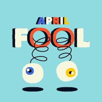 Design piatto concetto di pesce d'aprile