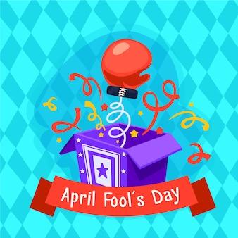 Flat design april fools day concept