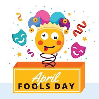 Flat design april fools day