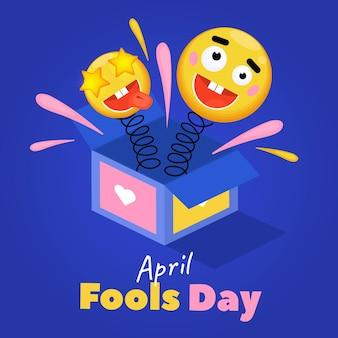 Flat design april fools' day