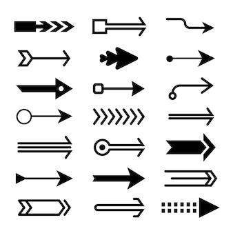 Flat design arrow collectin