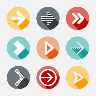 Flat design arrow collection
