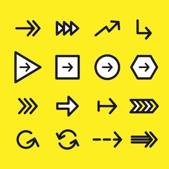Flat design arrow collection
