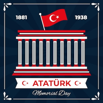 Design piatto ataturk memorial day sfondo