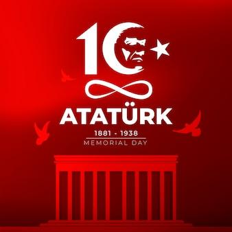 Flat design ataturk memorial day