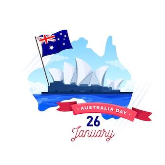 Flat design australia day concept