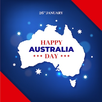 フラットなデザインのオーストラリアの日のコンセプト