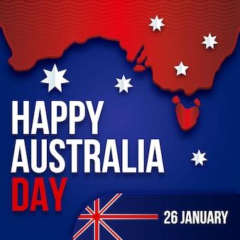 Concetto di giorno di design piatto australia