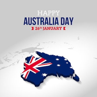 Flat design australia day Premium Vector