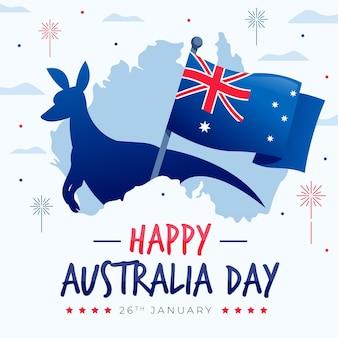 Flat design australia day