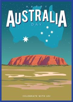 Плоский дизайн день австралии