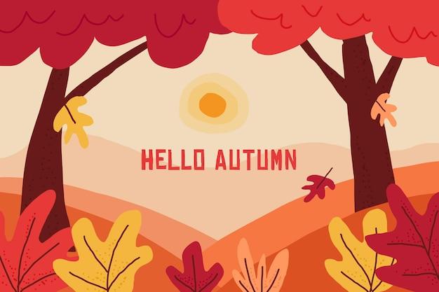 Design piatto autunno sfondo