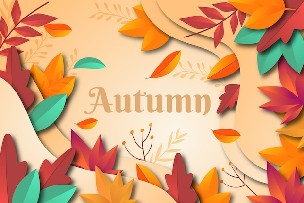 Flat design of autumn background