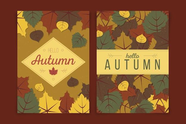 Collezione di banner autunno design piatto