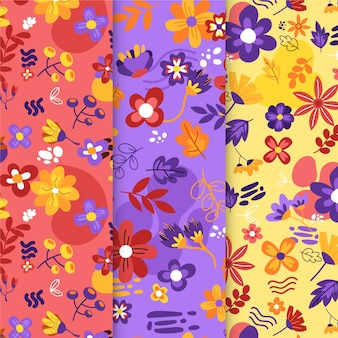 Flat design autumn decoration pattern