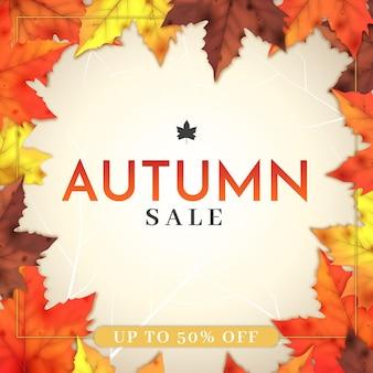 Concetto di vendita autunno design piatto