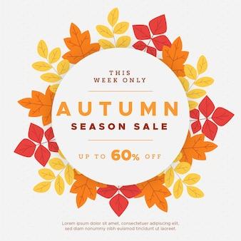 Flat design autumn sale