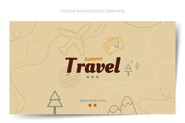 Fondo di contrazione di viaggio di autunno di design piatto