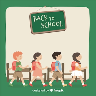 Flat design back to school background