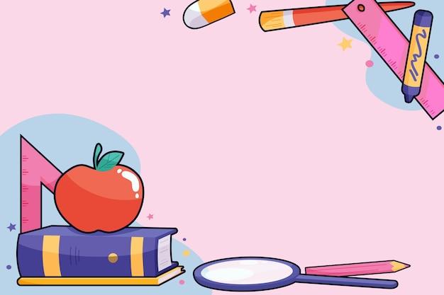 Flat design back to school background
