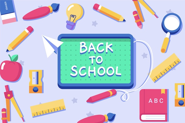 Flat design back to school backround