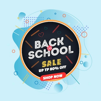 Flat design back to school sale