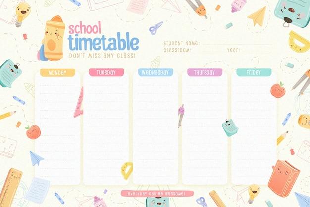 Design piatto torna al modello di orario scolastico