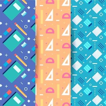 学校パターンコレクションに戻るフラットなデザイン