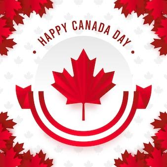 フラットなデザインの背景カナダの日