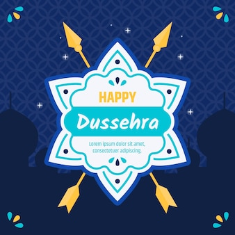 Flat design background happy dussehra with arrows