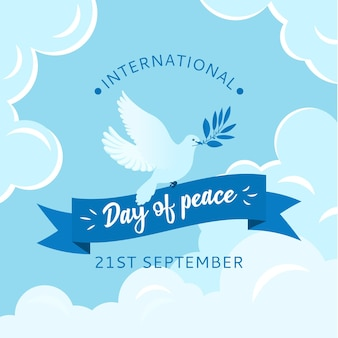 Flat design background international day of peace