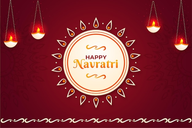 Flat design background for navratri