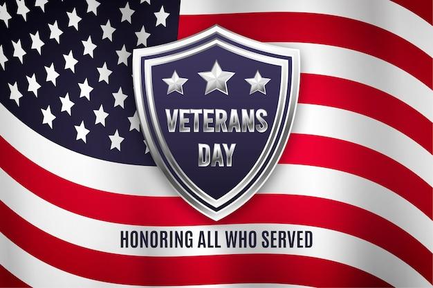 Flat design background veterans day